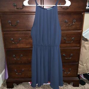 Francesca's Navy Blue Formal Dress